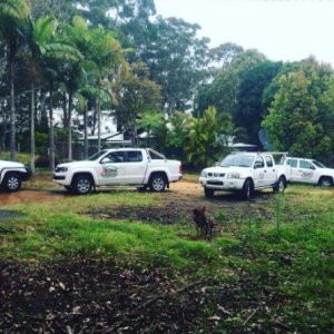 When the boys rock up to the job site...Our BDM fleet!