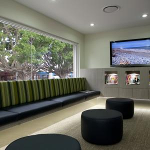 Sundial Dental fit out in Wauchope. Smart & stylish. There are even fish tanks & a kids zone incorporated into this design