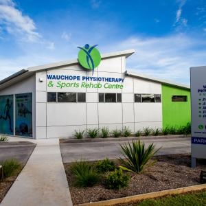 One of our commercial builds - The Wauchope Physiotherapy Centre. Features racked ceilings, a metallic express cladded wall & vibrant green accents